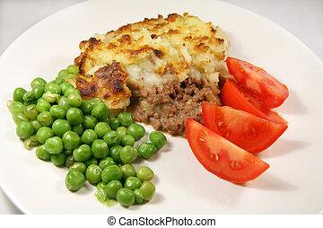 Shepherd\\\'s pie meal - A meal of shepherd\\\'s pie -...