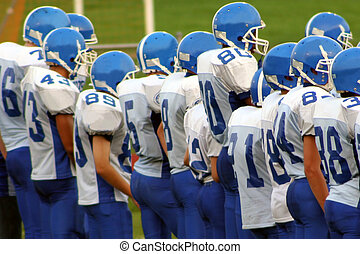 High School Football - High school football team on field