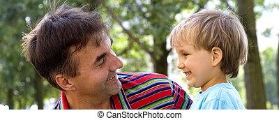 boy with uncle - happy boys