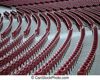 Empty stadium seats - Empty seats at a stadium