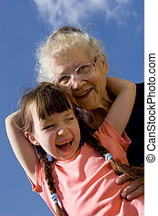 niña, abuelita