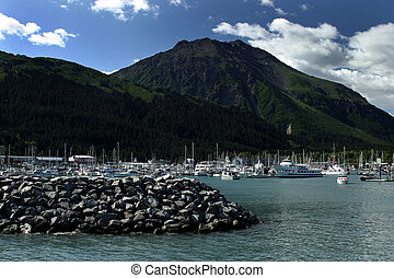 Harbour in Seward, Kenai, Alaska.