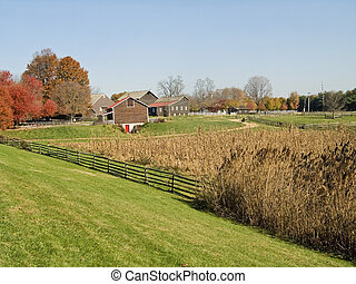 Meadows and Farm - A rural Autumn farm scene in New Jersey.