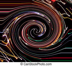 Caught In The Vortex - Time exposure photo of Christmas...