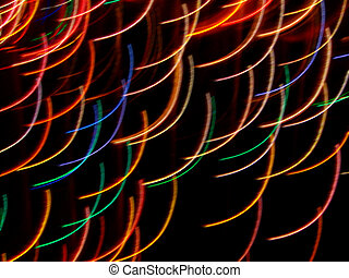 Flying Colored Arcs - Time exposure photo of Christmas...