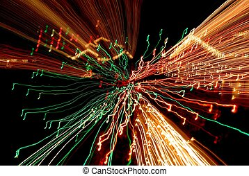 Musical Nightmare - Time exposure photo of Christmas lights...