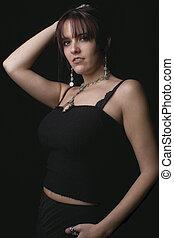 Fashion model - Rock attitude