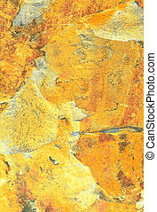 Golden Marbling - Yellow tonal abstract marble pattern on...