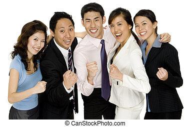 Successful Business Team - A successful business team...