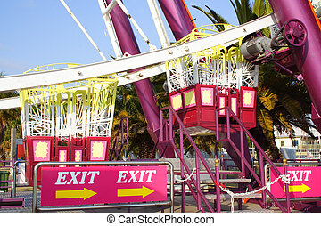 Ferris exit - exit the ferris wheel sign