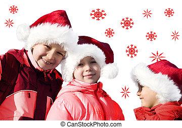 happy santa clauses