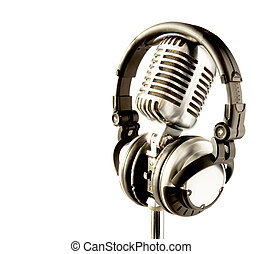 On The Air - Professional Retro Microphone DJ Headphones...