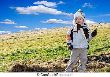 boy on a meadow