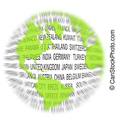 Green world concept - Clean and green environmentally...