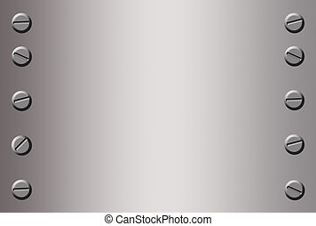 metal background - silver metal background with bolts in...