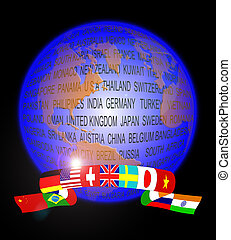 Globe abstract - An abstract of globe showing a banner of...