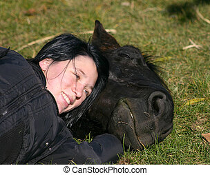 friendship between a teenager and a black horse