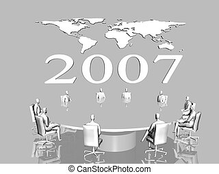 global business world map - Background, illustration of 2007...
