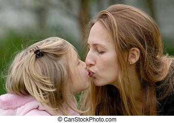 mum with daughter - the mother with a daughter