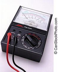 Volt Meter with cables - Volt meter with red and black...