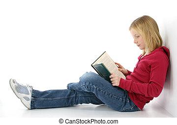 Tween with Book