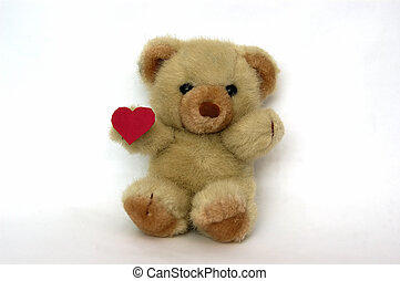Teddy with a heart - A Teddy Bear with a heart symbolizing...