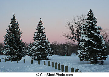Park at sunset - am image of the park at sunset after a...