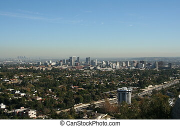 Los Angeles Skyline - A beautiful view from on top of the...