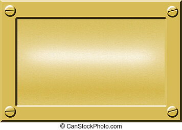 metal nameplate - gold metal nameplate or doorplate...