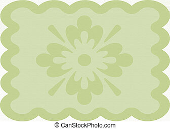 doilie - wavy khaki green colored doilie background with...
