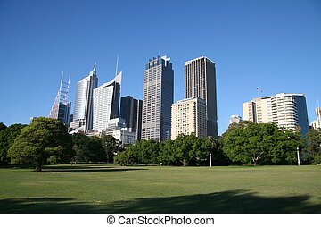 Sydney skyline - Part of the Sydney skyline from the Botanic...