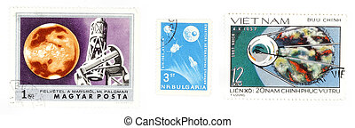 Space postage stamps - Postage stamps from Hungary, Bulgaria...