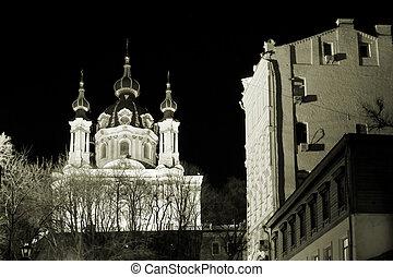 St. Andrew\\\'s church - Most famous landmark in Kiev,...