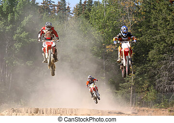up in the air - taken at massey moto cross