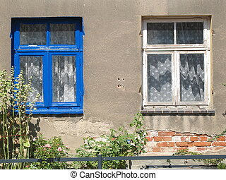 Windows blue white