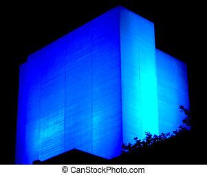 azul, luz