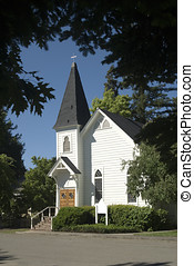 one room country church - scenic setting,small one room...