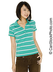 Asian Teen - An attractive young asian woman in casual...