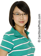 Asian Student - An attractive asian young woman in...