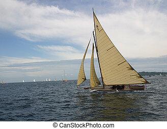 美麗, 老, 小船