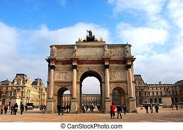 Paris France - Arc de Triomphe du Carrousel outside of...