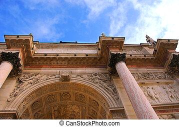 Paris France - Arc de Triomphe du Carrousel outside of...