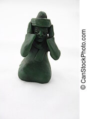 Hear No Evil Arabian clay figurative