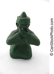 Speak No Evil Arabian clay figurative
