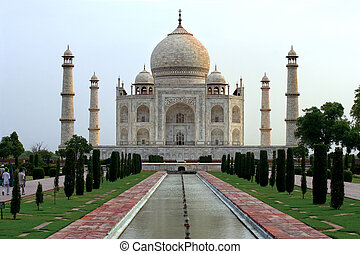 Taj Mahal - The Taj Mahal in Agra, India - as the sun rises