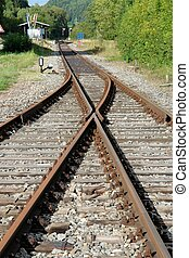 Railway Switch - The old railway track in that part of...
