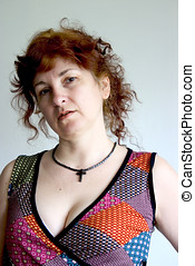 Midlife woman upset - Midlife woman with red hair