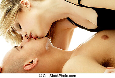 fondness 3 - intimate color image of sensual couple foreplay...
