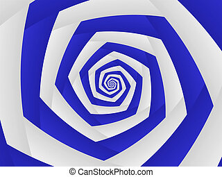Blue and White Swirl Pattern to Infinity