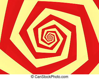 Spiral To Infinity - Red and yellow spiral to infinity